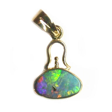Green Multi coloured Bell Pendant