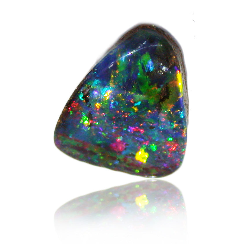 Red Blue Stone : Red green blue multi colour opal stone sunriseopals
