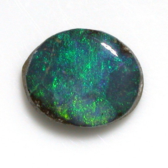 Quilpie solid boulder opal, green