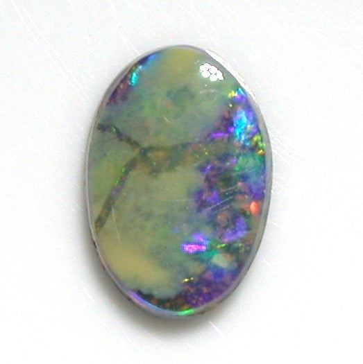 Multi-coloured solid boulder opal from quilpie