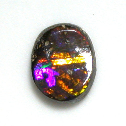 Gold multi-coloured solid boulder opal