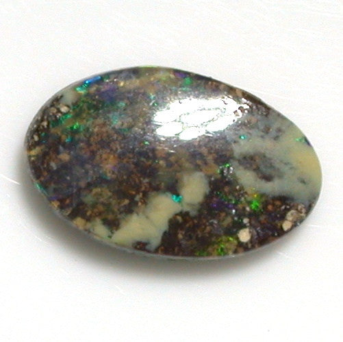 Green and blue solid boulder opal from quilpie