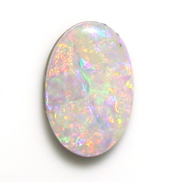 Pink multi-coloured solid boulder opal