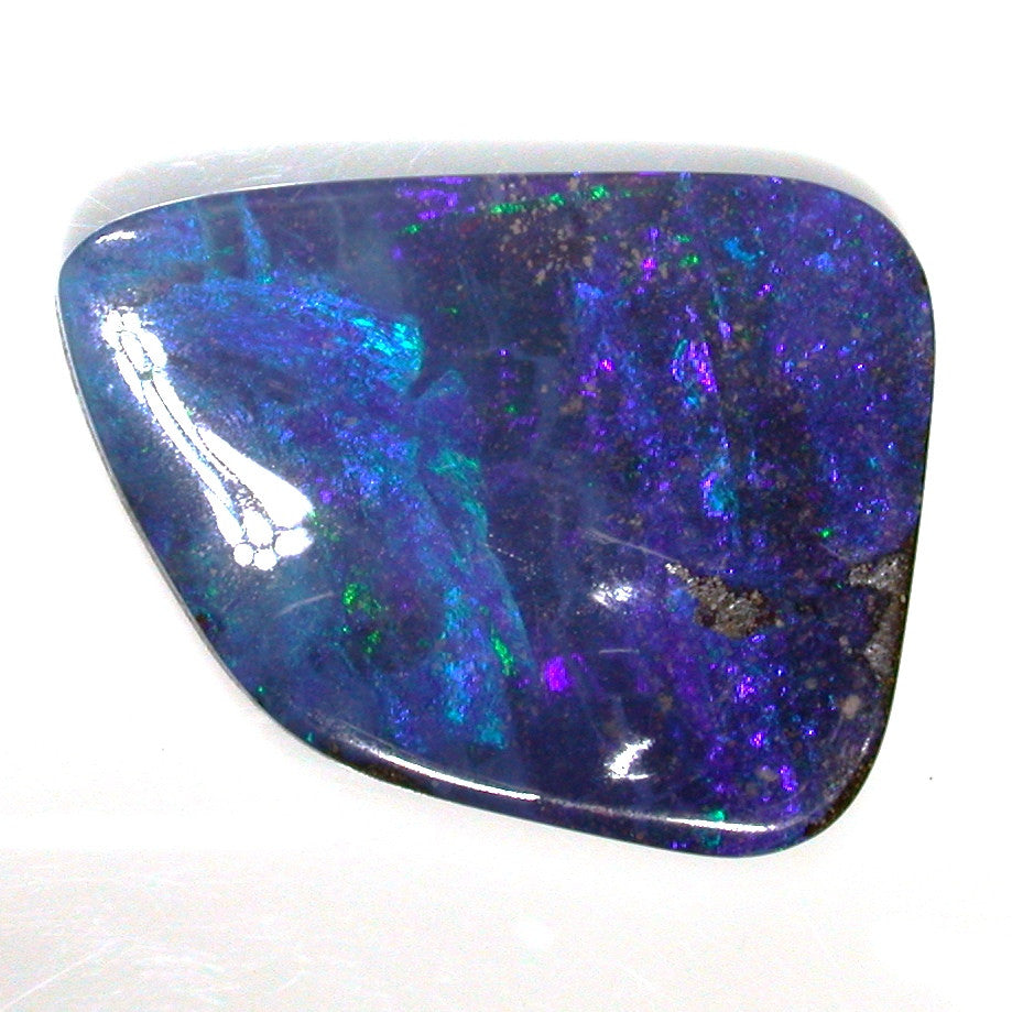 Blue, green and red solid boulder opal