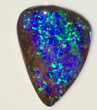 Bright Green and Blue solid boulder opal