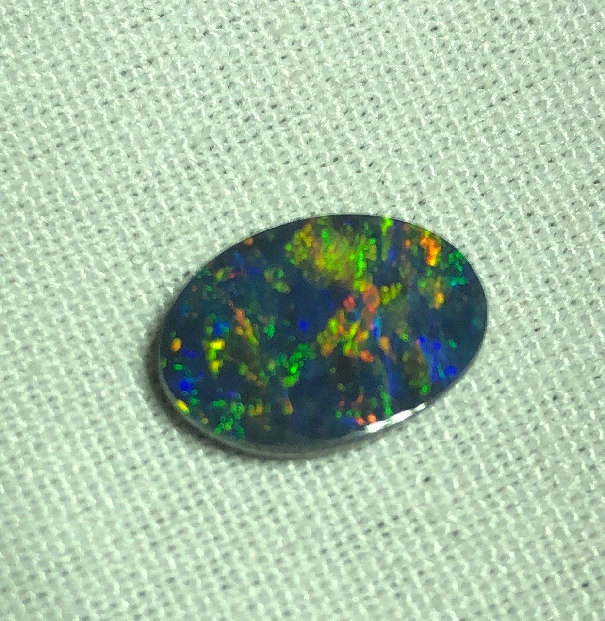 Beautiful multi coloured Black Opal from Lightning Ridge