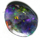 Green multi coloured solid boulder opal
