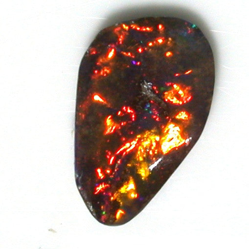 Burnt Orange solid boulder opal