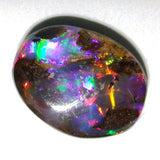 Bright Red multi coloured solid boulder opal