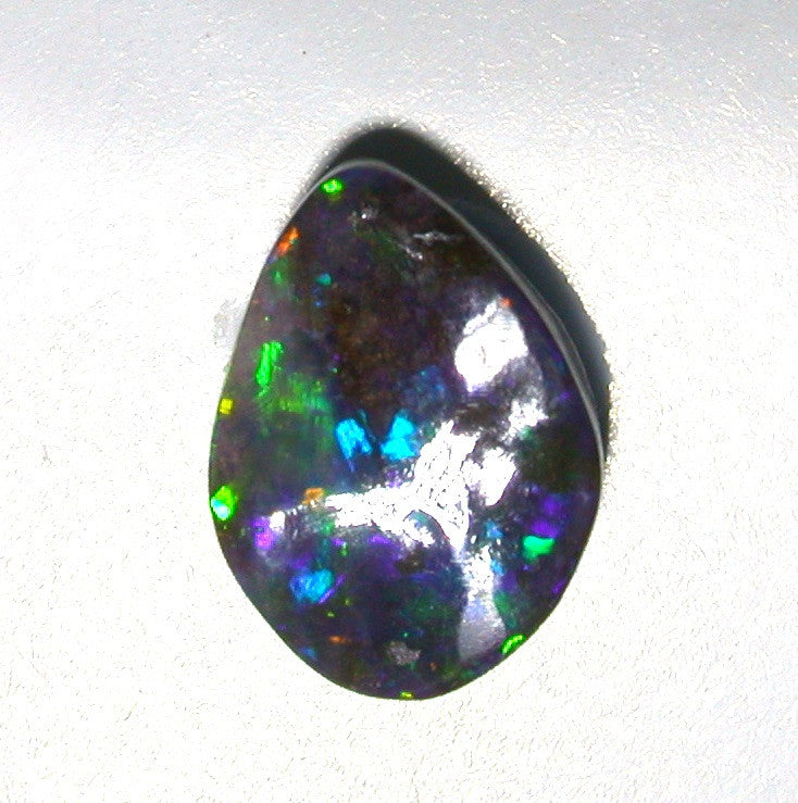 Green, Gold and Blue solid boulder opal
