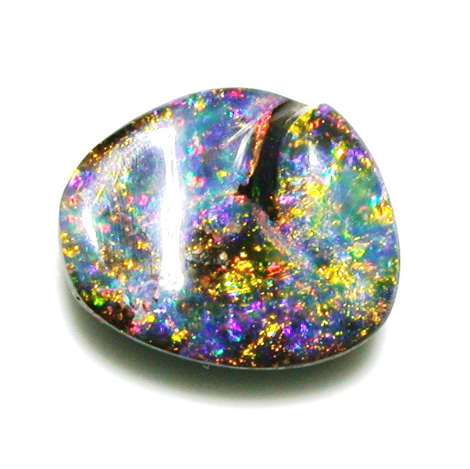 Green, Gold multi coloured solid boulder opal