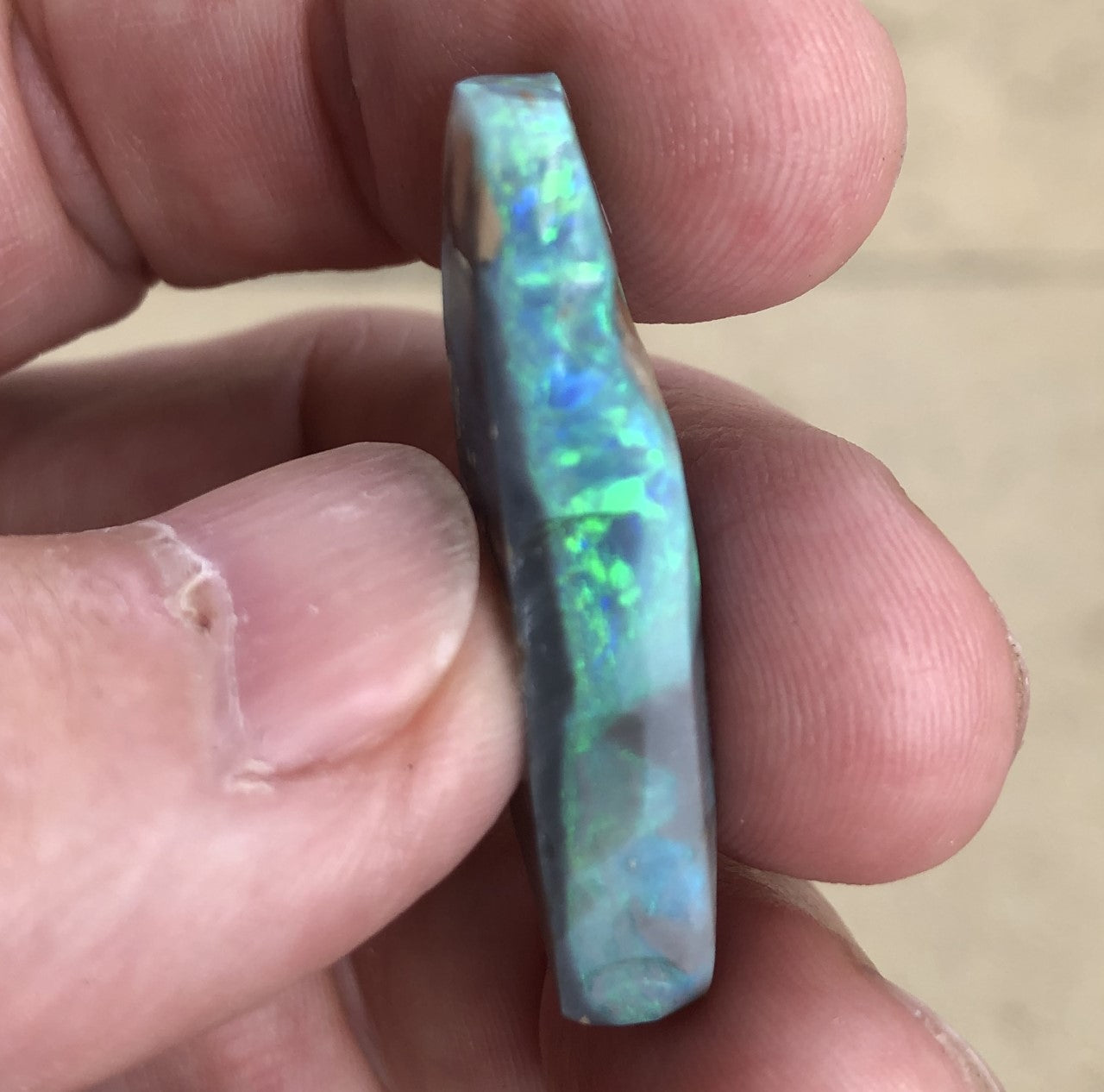 Opal rub from Lightning Ridge
