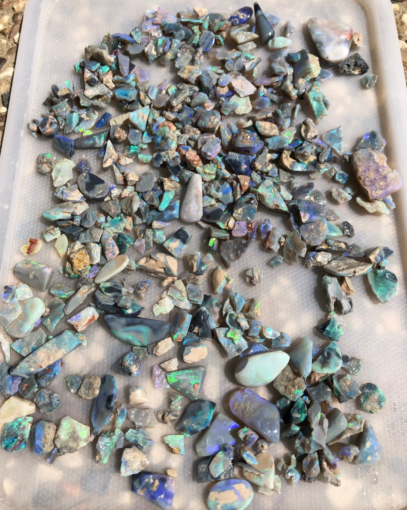 Rough and Rubs Lightning Ridge opal
