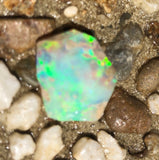 Rubbed Crystal Opal  from Lightning Ridge