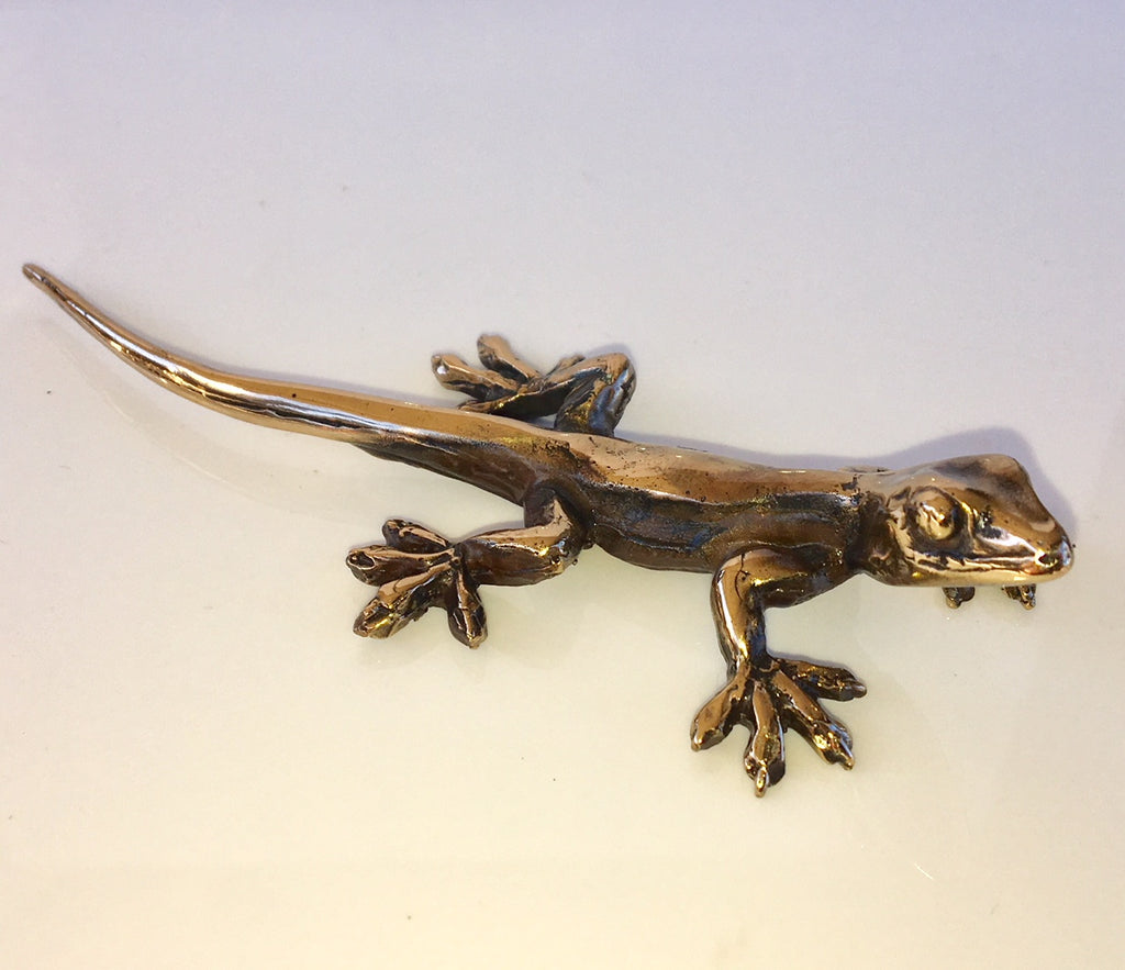 Bronze Gekko Sculpture