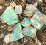 Bright Rough Crystal Opal  from Lightning Ridge