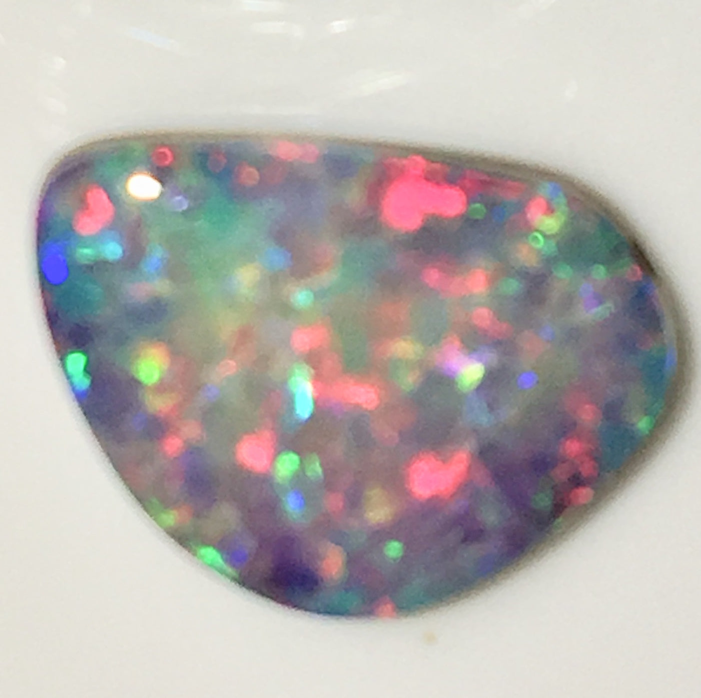 Hot Pink Multi Coloured Doublet Opal