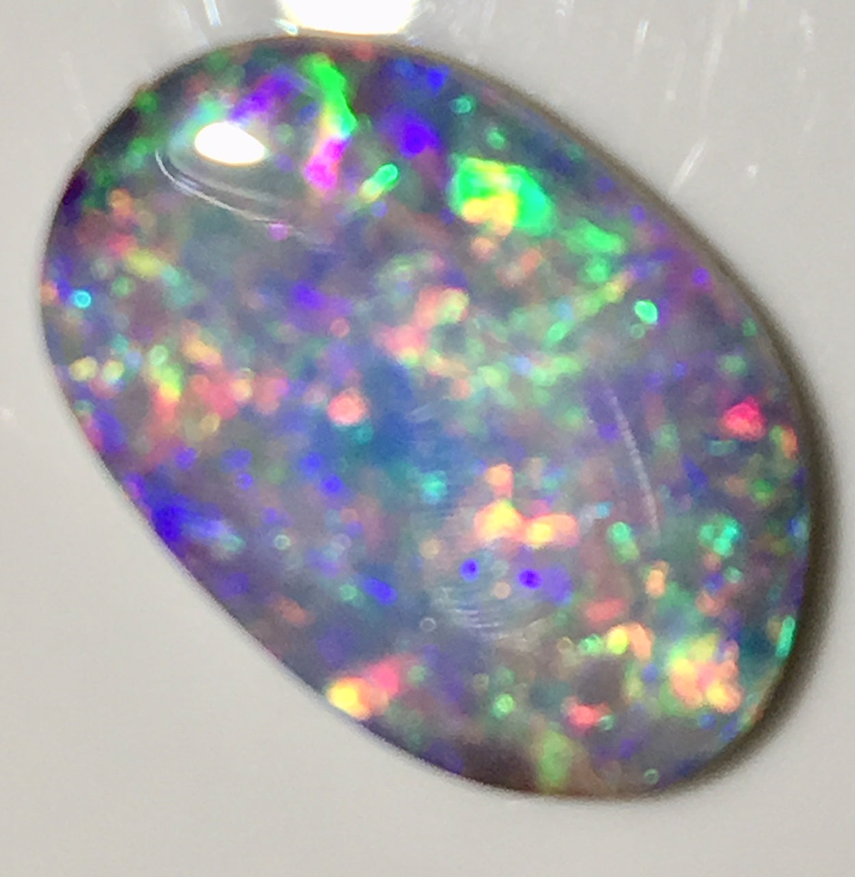 Pink Multi Coloured Doublet Opal