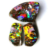 Amazing on Fire set of Queensland Boulder Opal