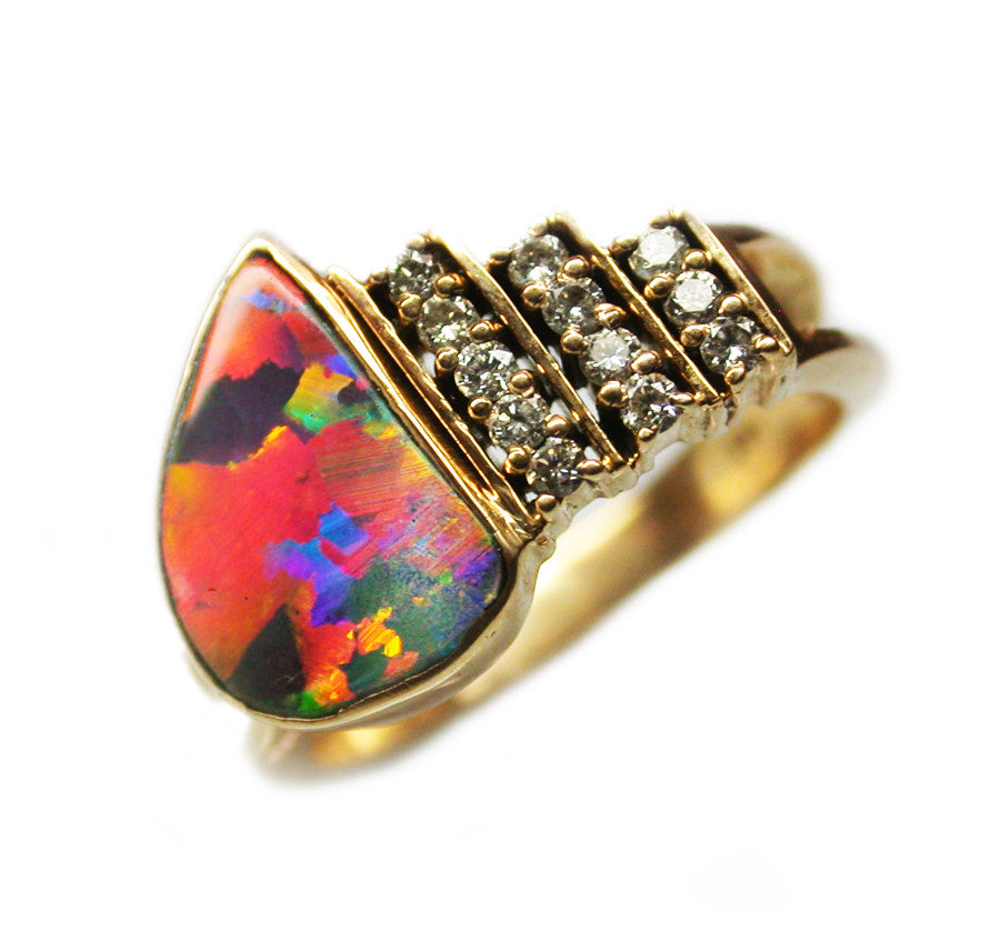 Gem Quality Boulder Opal Ring