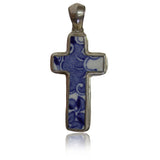 Ceramic Cross in Sterling Silver
