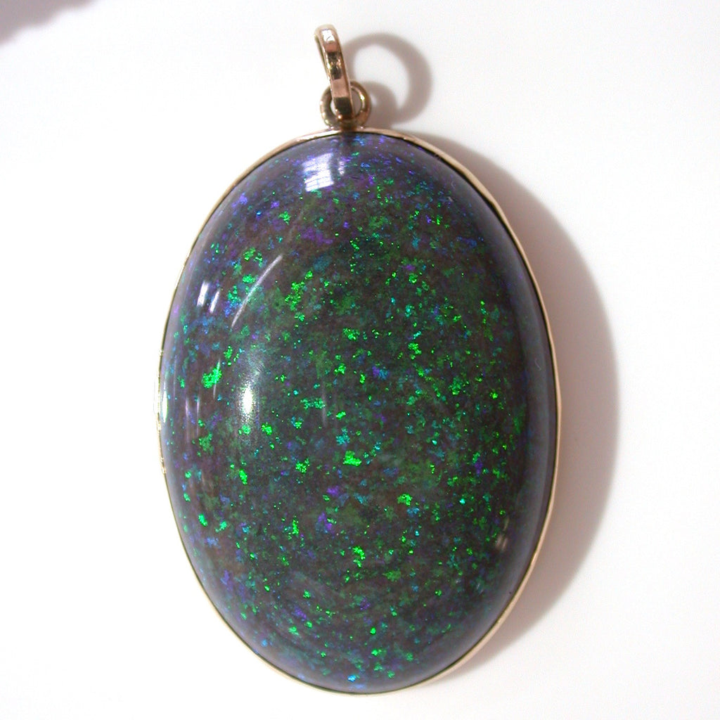 Green Andamooka Matrix Pendant 9k