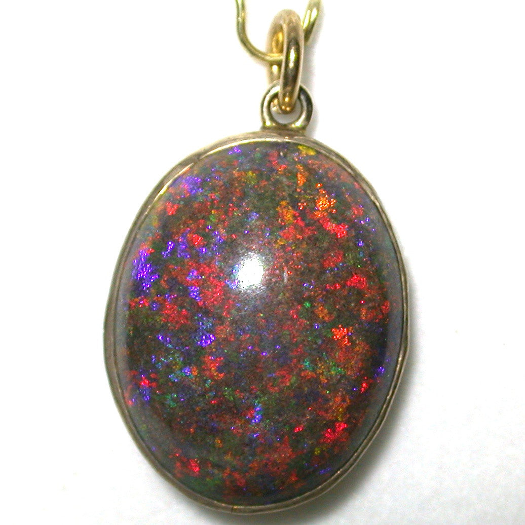 RED RED RED ANDAMOOKA MATRIX PENDANT.