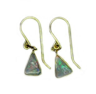 Pink Blue Boulder Drop Earrings