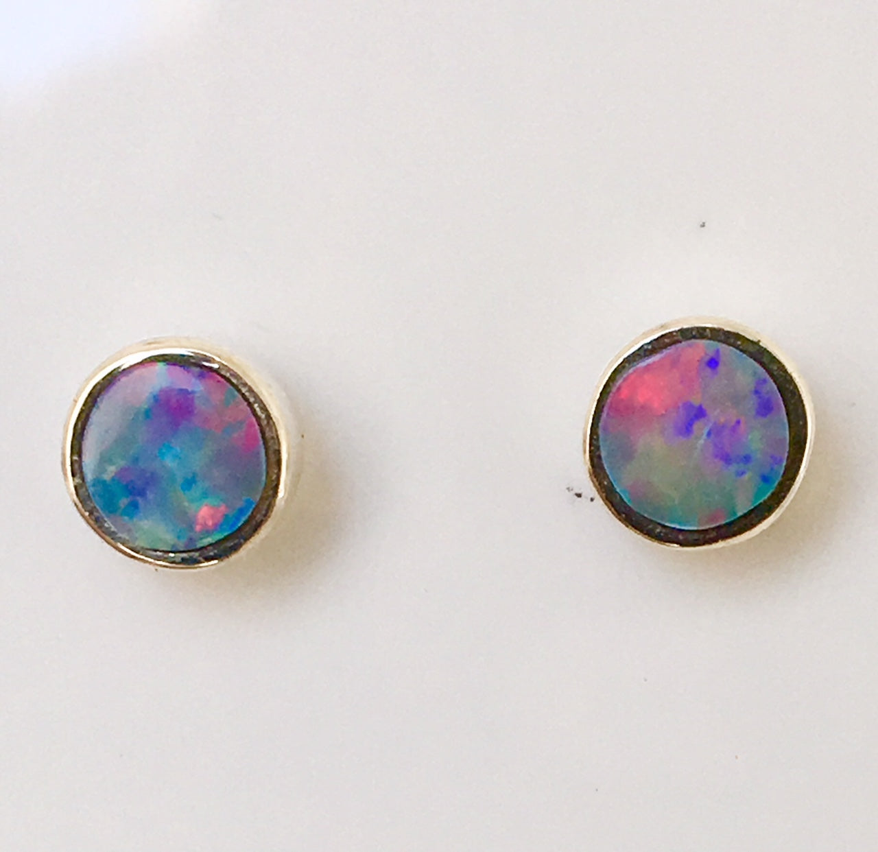 arch stud marble pink pastel textured sunrise earring LUCERO
