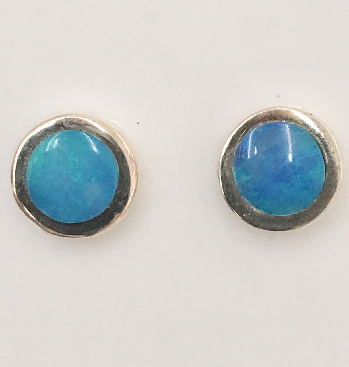 Green Blue stud earrings