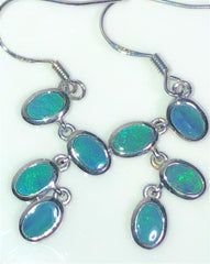 4 Solid boulder opals drop  earrings