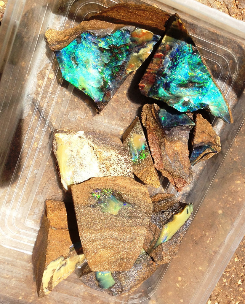 Parcel of rough Quilpie boulder opal