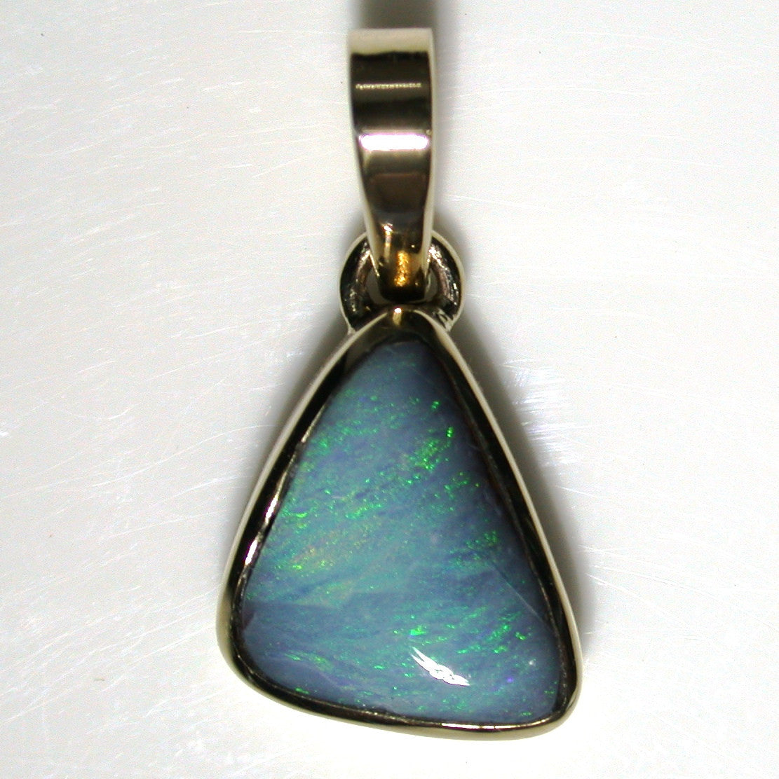 Light Pastel Green solid boulder opal Pendant