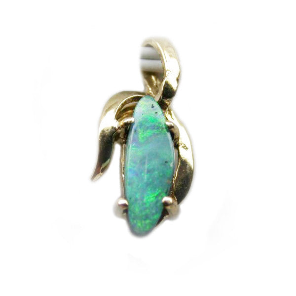 9k Green Gold Opal Pendant