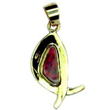 Multi Coloured Queensland Boulder Opal 9k Pendant