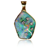 Southern Cross Green Multi Opal Pendant
