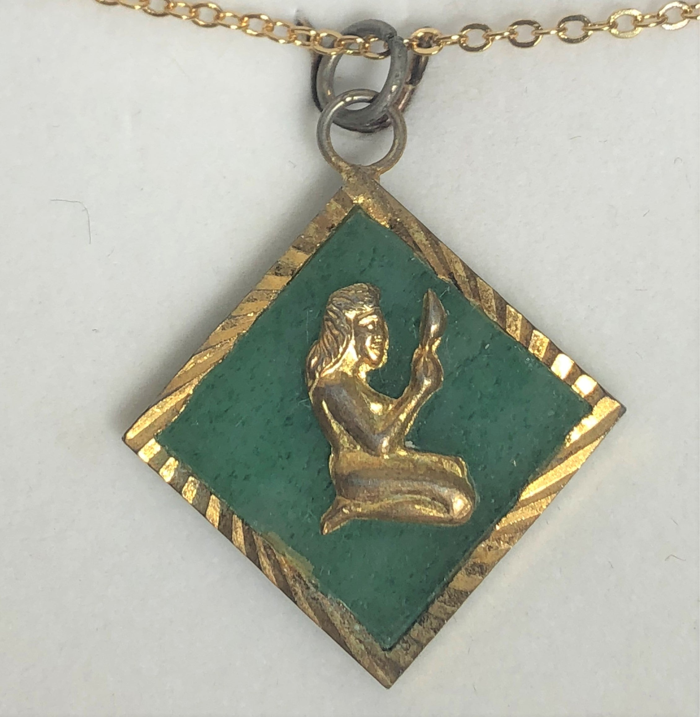 Jade Gold Plated Pendant