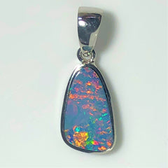 Pink multi coloured  Doublet opal pendant