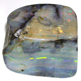 Green and pink multi coloured strips, boulder opal polished specimen