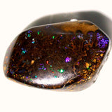 Red multi coloured boulder matrix opal polished specimen