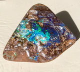 Green Blue boulder opal polished speciman