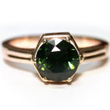 Green Saphire 9k Ring