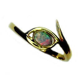 Pastel Multi coloured Boulder Opal Ring