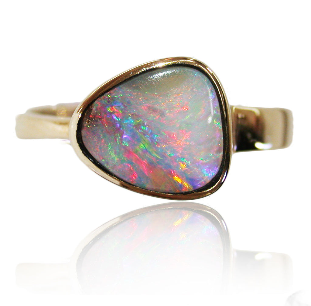 Pink Multi Colour Opal Ring