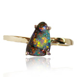 Red Multi Colour Opal Ring