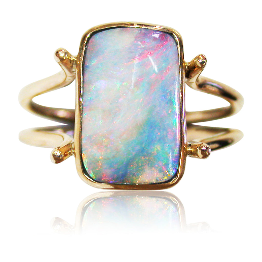 9k Pink Multi Colour Ring