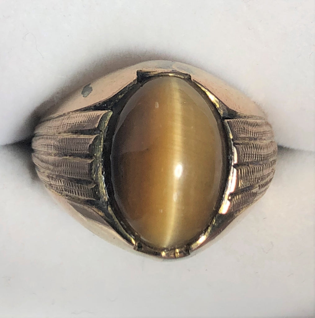 Tigers Eye Gold  Ring