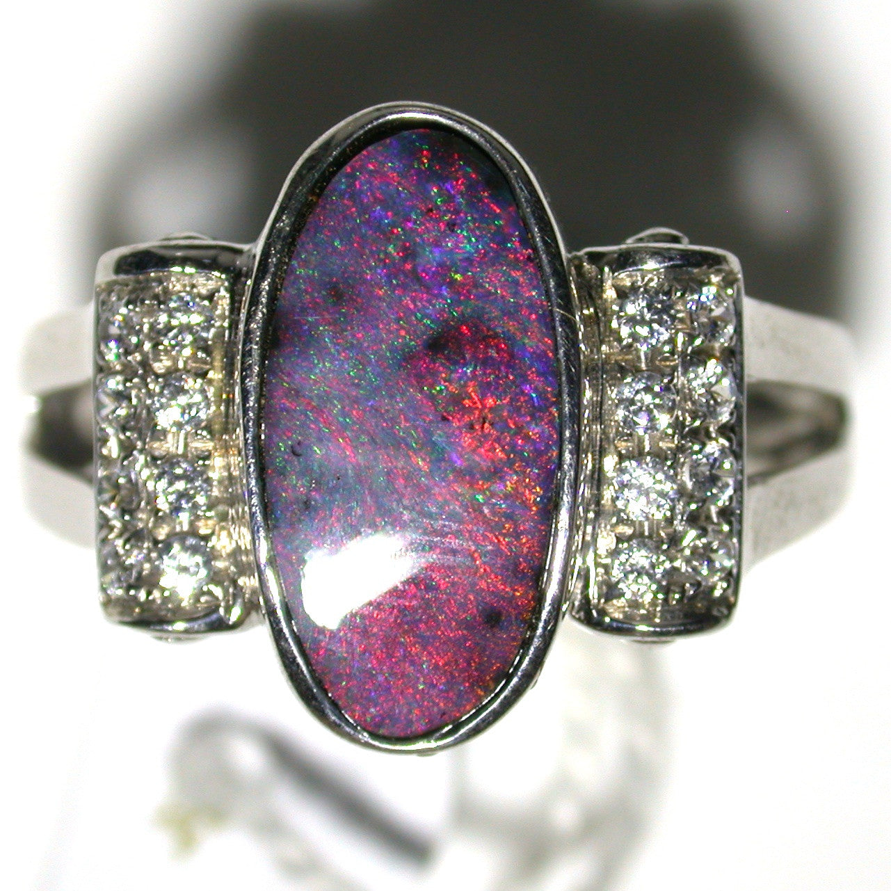 Hot Pink and Red solid  boulder opal from Quilpie