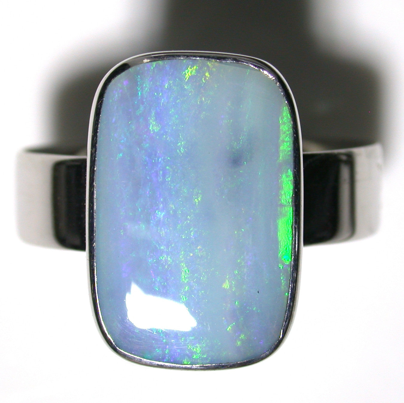 Green solid  boulder opal from Quilpie