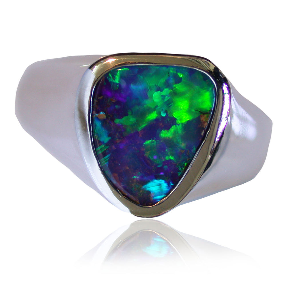 Green Blue S/S Ring